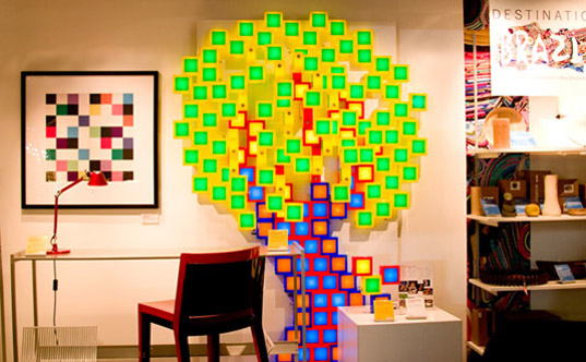 TwistTogether Blocks Tree, LED lamps, twist-together blocks, eco-friendly lighting, lamps