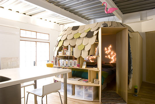 bibliophile, book igloo, book lover, diy bed, kids bed, point architects, uroko house