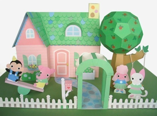fantastic toys downloadable paper dollhouse by timothy haugen