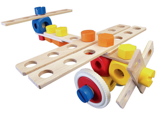 Construction Play Toys : Baufix airplane construction kit encourages imaginations
