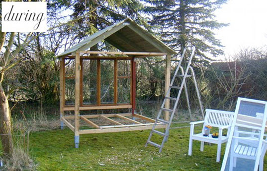 build your own playhouse, design sponge outdoor hideaway, diy backyard hideaway, recycle old windows