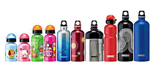 Sigg Bottles, sigg bottles, eco-friendly water bottle, sustainable water bottle, aluminum water bottle, travel container, eco travel, eco kids, green kids containers