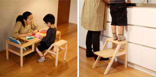 baby furniture, Baby In Table, evolving baby furniture, japanese beech, Oji Masanori, Otomo, Sincol, Toa Ringyo, transitional baby furniture