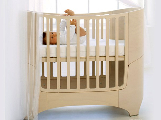 Leander Convertible Crib is Five Beds in One Inhabitots