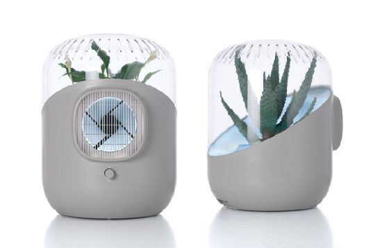 Andrea Air Filter Uses House Plants To Purify Indoor