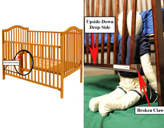 2 1 Million Stork Craft Drop Side Cribs Recalled Due To