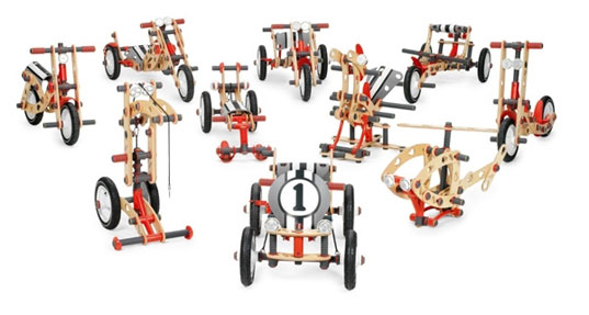 build a go cart, build your own bike, building kits, eco kids, educational toys, green gifts, green kids, green toys, large scale Wooden Construction Kits, MOOV, MOOV building kits for kids. BERG toys, Moov kits, Rideable Wooden Construction Kits, Wooden Construction Kits