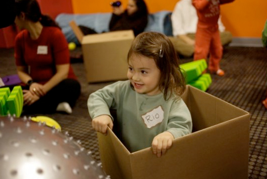 Fun with cardboard boxes, green toys, great green toys, green DIY toys, DIY green toys, make your own green toys, recycled container toys