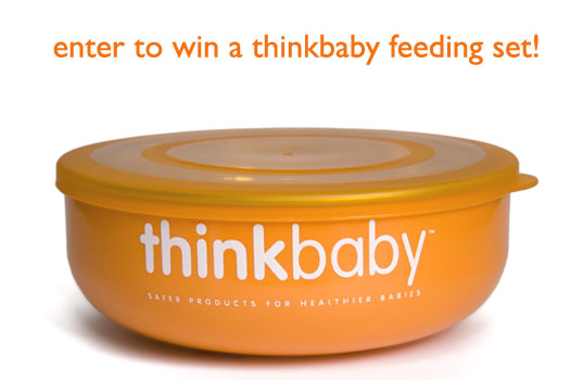 baby feeding, bpa feeding gear, eco baby, eco kids, green baby, green kids, stainless steel feeding gear, thinkbaby, Thinkbaby Complete BPA Free Feeding System, Thinkbaby dishes, thinkbaby feeding set, thinkbaby giveaway, toddler feeding