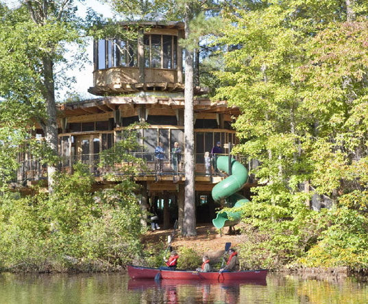 aeck and sargent, camp twin lakes, eco education, eco kids, eco-friendly camp, eco-friendly treehouse, green children's camp, green kids, green treehouse, green treehouse design, lord, scad, sustainble treehouse design, treehouse for disabled children