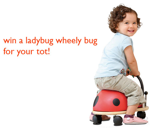 eco friendly toys, eco kids, eco-friendly ride on toys, franklin goose, green kids, ladybug wheely bug, prince lionheart, prince lionheart wheely bug, wheely bug giveaway, win a wheelybug