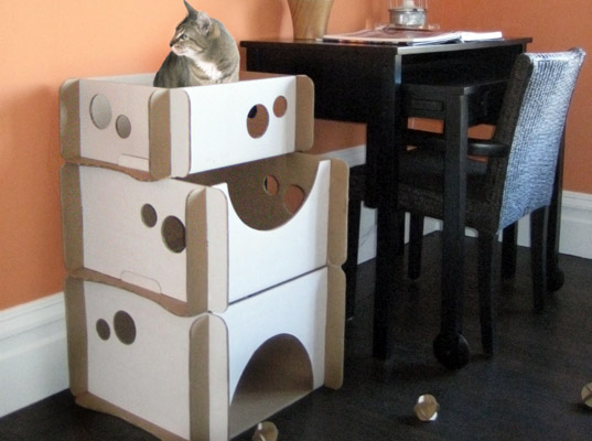 Caboodle a cardboard cat condo your kid can decorate
