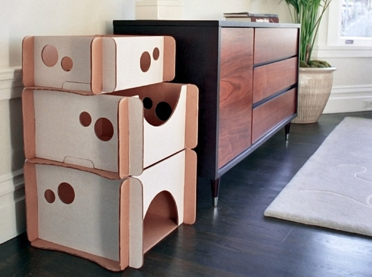 Caboodle A Cardboard Cat Condo Your Kid Can Decorate Inhabitots