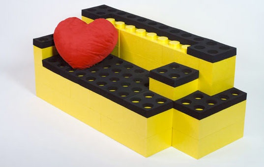 Lego Furniture For Kids build your own furniture out of life-sized lego pieces! | inhabitots