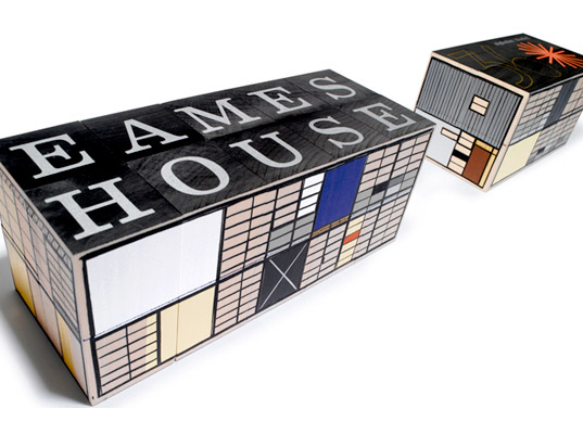 Eames House Blocks, Eames House, Charles and Ray Eames, eco-friendly building blocks, eco-friendly alphabet blocks, sustainable wood, wooden toys, eco-friendly toys, eco kids, green kids, modern kids