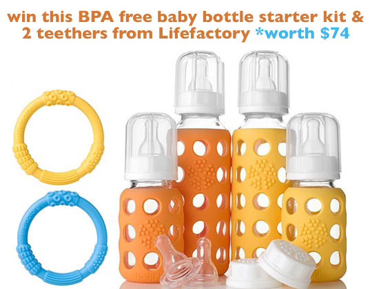 bpa free baby bottles, non-toxic baby bottles, lifefactory, inhabitots giveaway, inhabitots, eco baby, green baby, eco-friendly baby, baby gear giveaway, the mini social