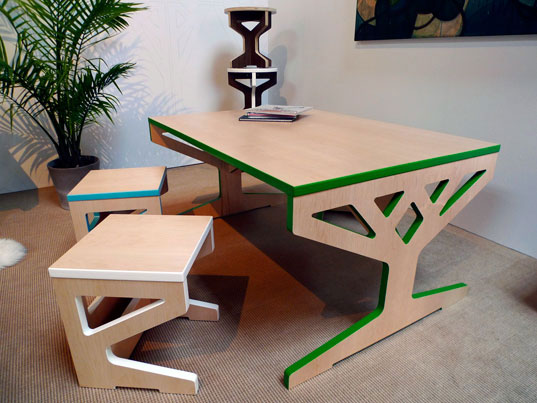 April Hannahs Sustainable Tree Table Furniture Grows in Brooklyn
