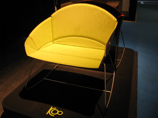 Lunar, Koo, eco-friendly rockers, eco-friendly rocking chairs, eco-friendly bassinets, eco-friendly cradles, convertible furniture, transformer furniture, multifunctional furniture, eco-friendly baby furniture, eco-baby, green baby, ICFF