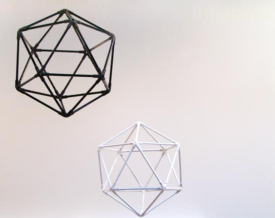 Michiel Cornelissen, Icosahedron Pencil Mobile, DIY mobiles, eco-friendly mobiles, color pencil mobiles, Model Citizens 2010, eco-friendly kids, eco-kids, green kids, eco-friendly kids decor, eco-friendly toys