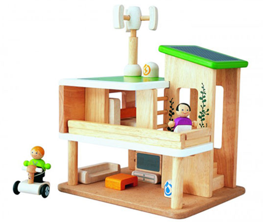 plan toys, plan toys giveaway, plan toys eco home, green kids, eco kids, green design for kids, green toy giveaway, inhabitots giveaway, grasshopper store, green toy store, green dollhouse, eco-friendly dollhouse