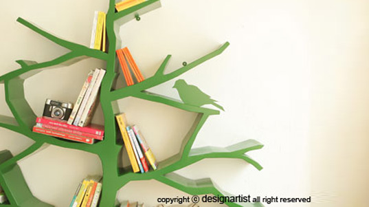 Delightful Tree Shaped Bookshelf By Shawn Soh