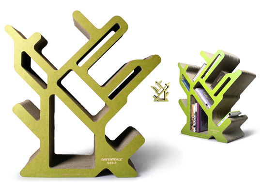 Creative Action for Forest, Greenpeace, Jamy Yang, eco-friendly bookcase, eco-friendly bookshelf, eco-friendly kids decor, eco-friendly kids furniture, green kids, eco kids, green families, eco families