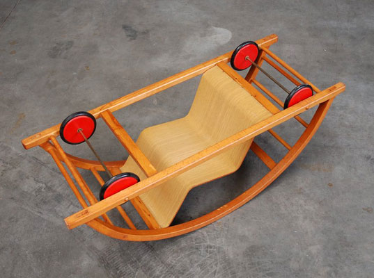 A Kid S Car That Becomes A Rocking Chair When You Flip It