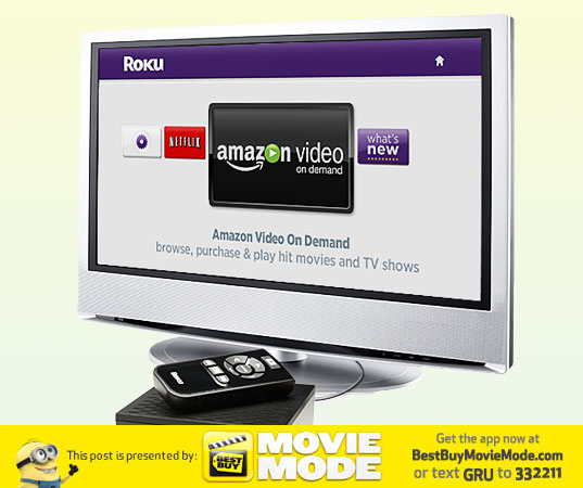 Roku box, roku box, movies, netflix, gadgets for moms, green gadget, Neflix box, green home entertainment, Despicable Me, Best Buy campaign,