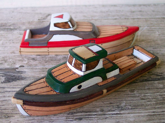 Hand Carved Wooden Toy Boats By Friendly Fairies Let Kids