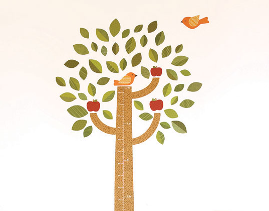 New Growth Chart Fabric Wall Decals From Petit Collage Inhabitots