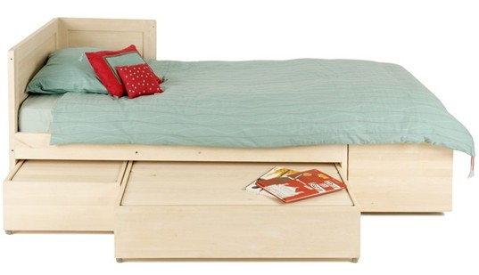 Non Jetable nonjetable adaptable bed in birch | inhabitots
