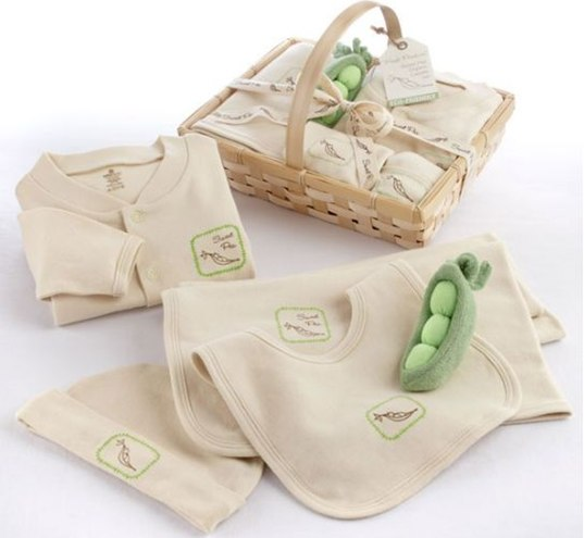 adorable baby toy, baby pea pod, cute baby toys, pea pod plush,pea pod baby, cute baby gift, baby shower gift, organic baby, green baby, eco baby, Organic Layette Set