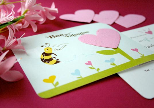 Plantable eco valentines day cards bloom as wildflowers inhabitots flowers and cards are two top sellers every valentines day botanical paperworks ingeniously combines the sweet duo of offerings into one with their m4hsunfo