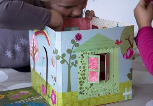 Dolls Cube, Mon Petit Art, cardboard dollhouse, eco-friendly dollhouse, green dollhouse, green kids, eco kids, green design for kids, eco design for kids