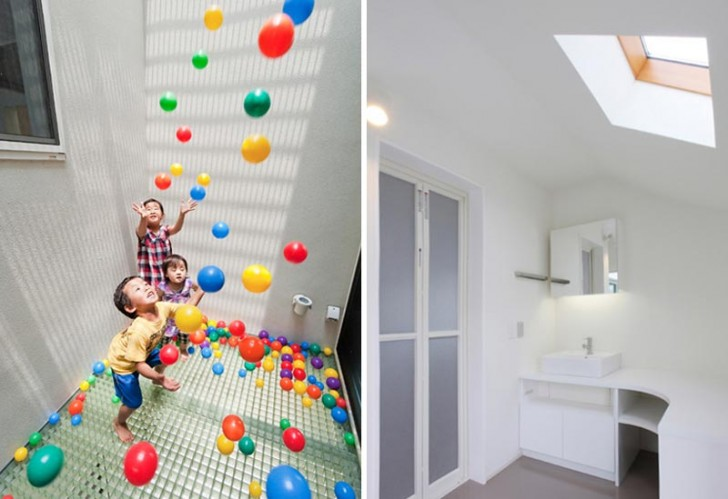 level architects, house with slide, architecture for kids, slide in a house, house that has a slide, slides in houses, built-in slide