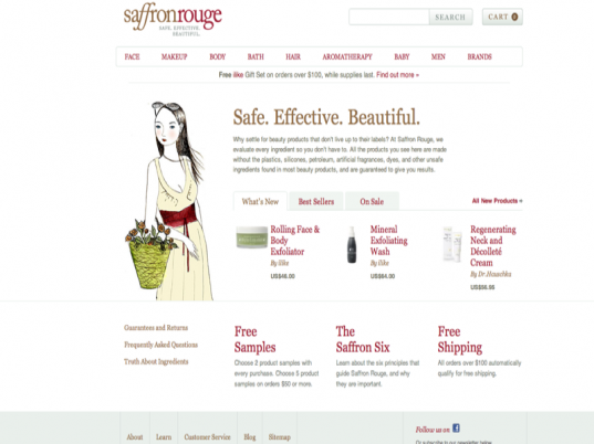 saffron rouge, organic makeup, gift certificate, organic, non-toxic, mother's day