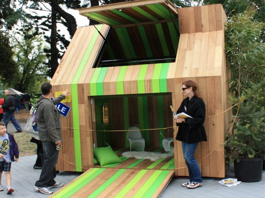 Kids Undercover, eco cubby, eco play, eco kids, 2011 Melbourne International Flower and Garden Show, sustainable design, The Milkbar, The Open House, The Glow House, State of Green,