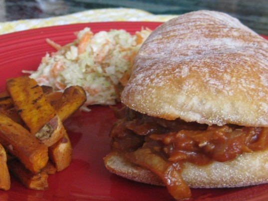 seitan barbecue sandwich, vegetarian father's day dinner