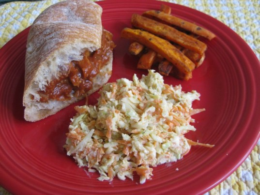 coleslaw, vegetarian father's day dinner