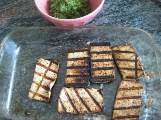 grilled tofu, vegetarian fourth of july