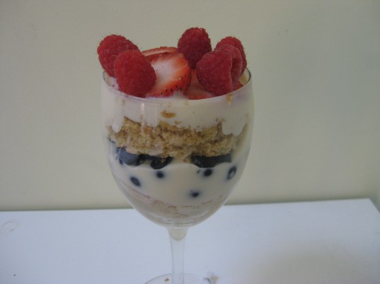 berry trifle, vegetarian fourth of july