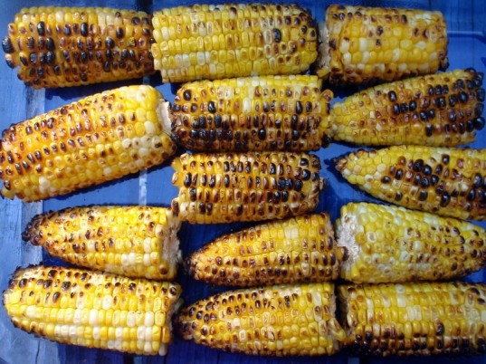grilled corn, vegetarian fourth of july