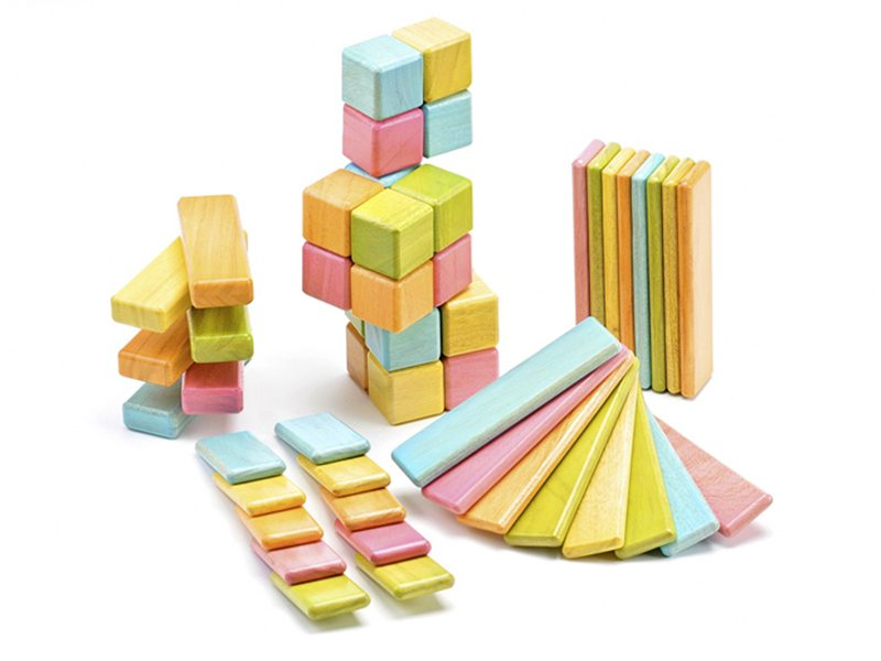 Colored Wood Blocks ~ Colorful eco friendly building block sets for green kids