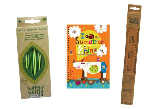 eco friendly school supplies, green back to school, green design for kids, green kids, ethical ocean, green art supplies,