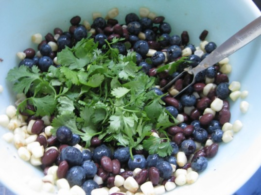 seasonal summer salad, vegetarian bean salad