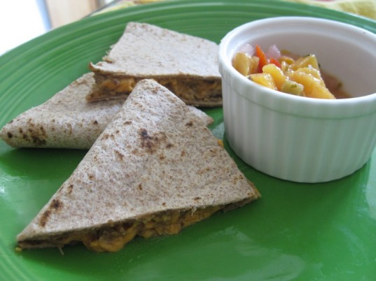 quesadillas, vegetarian lunch