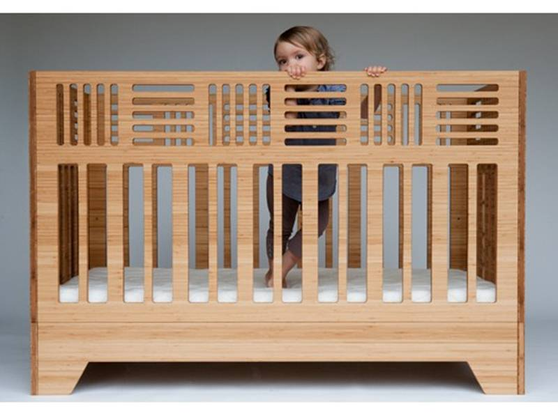 green baby furniture. Eco-Friendly Io Crib From Kalon Studios Can Be Used Until Age 6 | Inhabitots Green Baby Furniture
