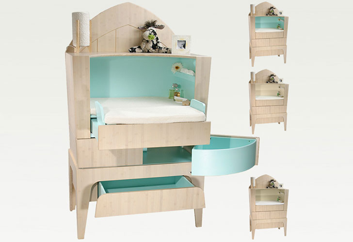 Baby Changing Table Dresser Converts To Office Desk As Child Grows