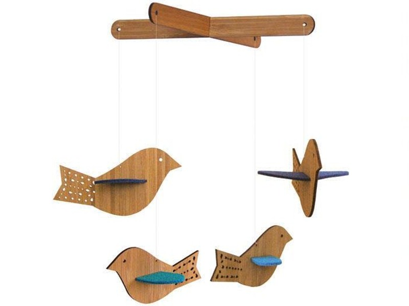 Petit Collage Deluxe Bird Mobiles Are Sustainable and Sweet | Inhabitots