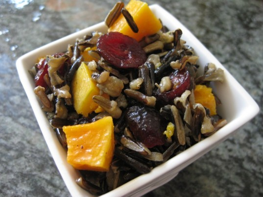 gluten-free lunches, wild rice and roasted squash